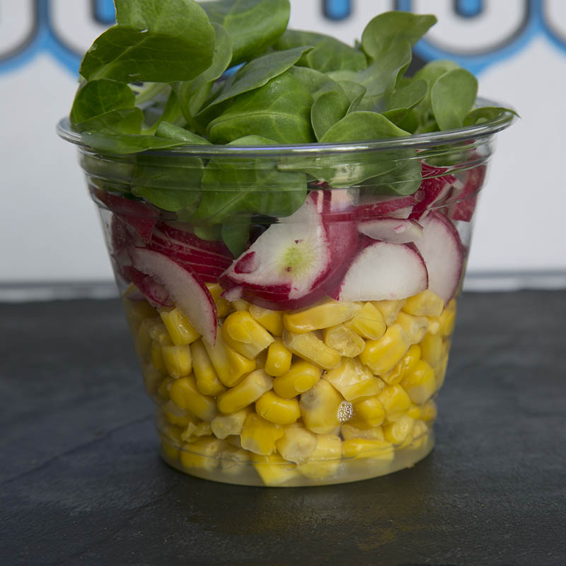 Salade maïs et radis